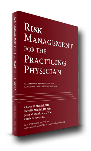 risk management for the practicing physician book cover