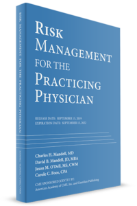 Risk Management for the Practicing Physician book cover CME credits