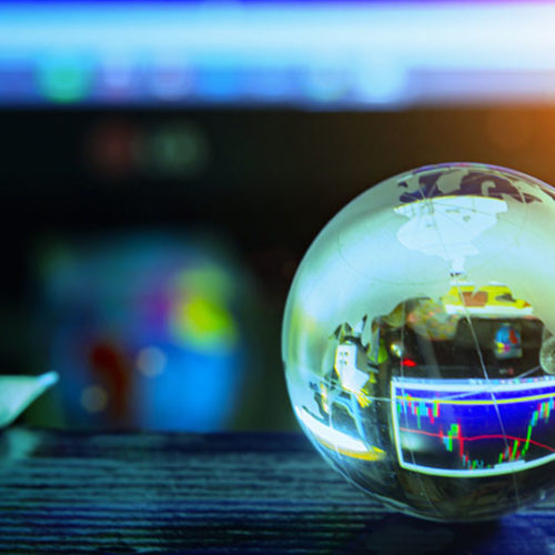 glass globe on table